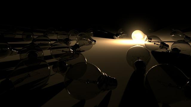 osvětlená žárovka